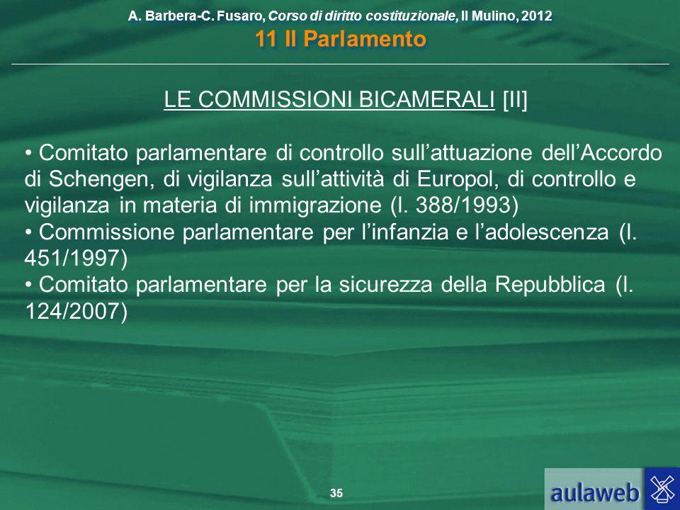 LE COMMISSIONI BICAMERALI [II]